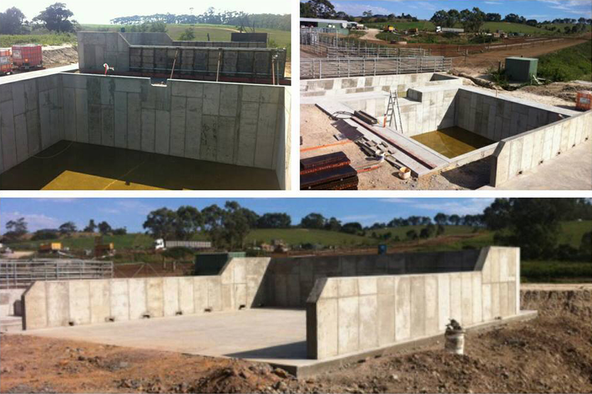 Farm upgrade: Concrete effluent system in Toora North, South Gippsland