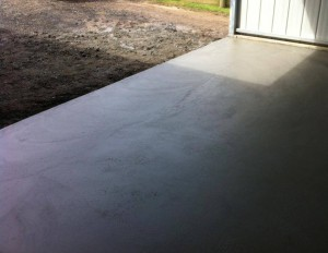 Concrete Shed Slab and Ramp in Woolamai