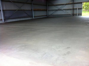 Concrete Shed Slab in Foster
