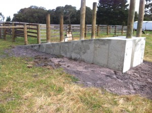 Concrete Cattle Race, Cattle Crush Slab & Front Entrance Slab in Barry Beach, Victoria