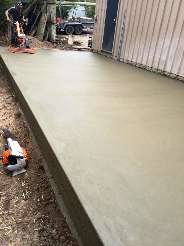 how to prepare for a concrete slab for a shed