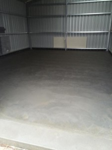 Concrete Shed Slab in Foster, Victoria