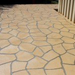 Stencil concrete footpath in Foster South Gippsland