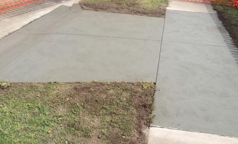 Concrete crossover in Welshpool, South Gippsland