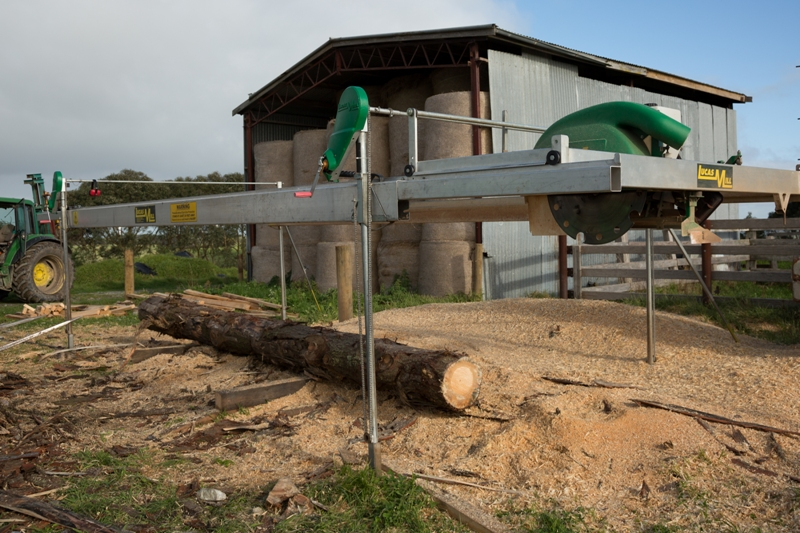 Portable saw mill in South Gippsland