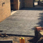 Slate impression alfresco area in Toora, South Gippsland