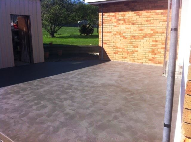 Concrete patio in Toora, South Gippsland